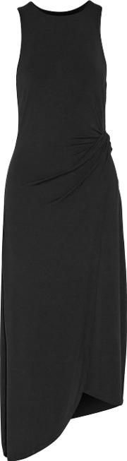 Tart Collections , Jones Gathered Stretch Modal Midi Dress Black