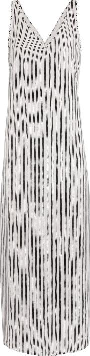 Tart Collections , Oliver Striped Crepe De Chine Maxi Dress White