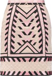 Temperley London , Anfisa Embroidered Quilted Silk Mini Skirt Pastel Pink