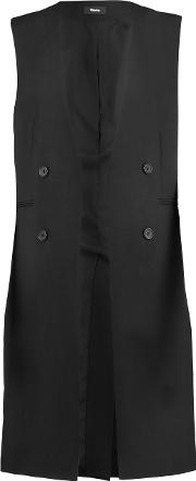 Theory , Aggie Wool Crepe Gilet Black