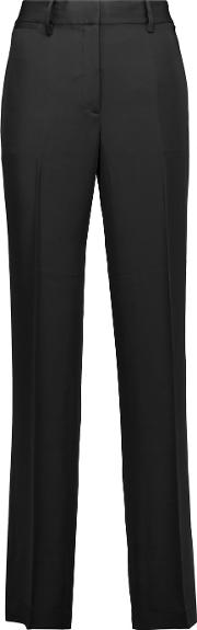 Theory , Brinfill Silk Crepe De Chine Wide Leg Pants Black