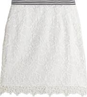 Topshop Unique , Taplow Guipure Lace Mini Skirt White