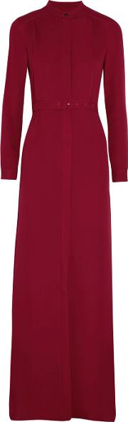 Vanessa Seward , Belted Silk Georgette Maxi Dress Red