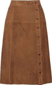 Vanessa Seward , Burton Suede Skirt Chocolate