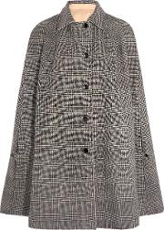Vanessa Seward , Conan Reversible Wool Blend And Cotton Gabardine Cape Gray
