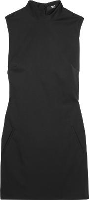 Versus Versace , Embellished Stretch Wool Twill Mini Dress Black