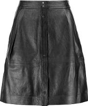 Vince , Leather Skirt Black