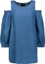 W118 By Walter Baker , Courtney Cutout Chambray Top Blue