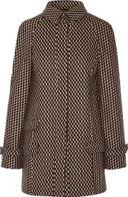 Wes Gordon , Stretch Wool And Angora Blend Coat Brown