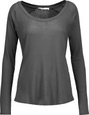 Yummie By Heather Thomson , Pima Cotton Blend Jersey Pajama Top Anthracite