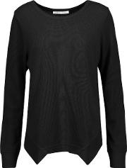Yummie By Heather Thomson , Waffle Knit Stretch Cotton And Modal Blend Pajama Top Black