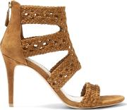 Sandro , Agate Woven Suede Sandals Fr36