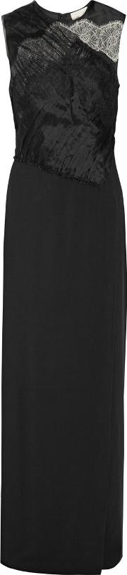 31 Phillip Lim , 3.1 Phillip Lim Organza And Lace Trimmed Silk Crepe Gown Black
