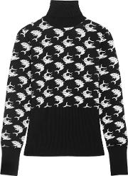 Duro Olowu , Intarsia Wool Turtleneck Sweater Black