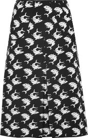 Duro Olowu , Pleated Intarsia Wool Skirt Black