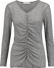 Kain , Jacqueline Gathered Stretch Knit Top Gray