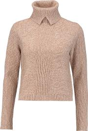 Magaschoni , Wool And Cashmere Blend Turtleneck Sweater Brown