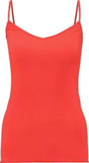 Enza Costa , Woman Cotton Blend Jersey Camisole Red