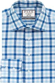 Thomas Pink , Hercules Check Slim Fit Button Cuff Shirt