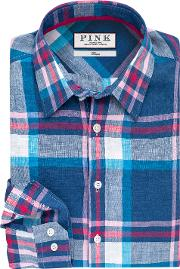 Thomas Pink , Lovell Check Classic Fit Button Cuff Shirt
