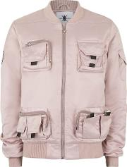 Daily Paper , Mens  Pale Pink Utility Pocket Bomber Jacket