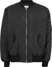 Hype , Mens  Black Quilted Interior Bomber Jacket