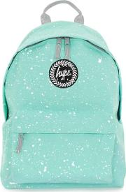 Hype , Mens  Green And White Speckle Backpack