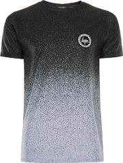 Hype , Mens  Grey And Black Speckle Fade T Shirt