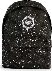 Hype , Mens Multi  Black Paint Splat Backpack
