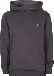 Jog On , Mens Charcoal  Grey Soft Touch Hoodie