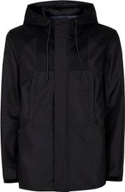 Topman , Mens Black Tech Windbreaker Jacket