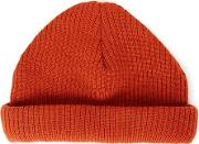 Topman , Mens Chilli Red Mini Roll Beanie Hat