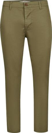 Topman , Mens Khaki Cropped Stretch Skinny Chinos