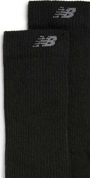 New Balance , Mens  Black Socks 2 Pack