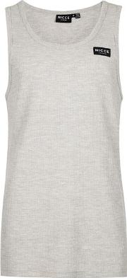 Nicce , Mens  Grey Waffle Textured Vest