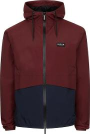 Nicce , Mens Red  Navy And Burgundy Jacket