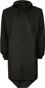 Rains , Mens  Black Long Parka Raincoat