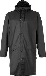 Rains , Mens  Black Long Raincoat