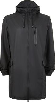 Rains , Mens  Black Parka