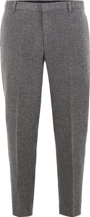 Selected Homme , Mens Black  Grey Tapered Trousers