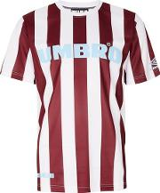 Umbro , Mens Multi House Of Holland X  Brown Stripe Football T Shirt