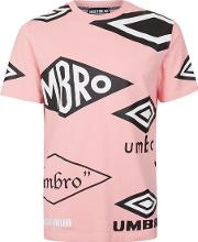 Umbro , Mens Pink House Of Holland X  Crew Neck T Shirt
