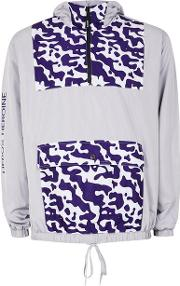 Heros Heroine , Mens Hero's Heroine Grey And Purple Camo Windbreaker Jacket
