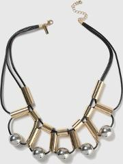 Topshop , Womens Tube And Ball Collar Necklace