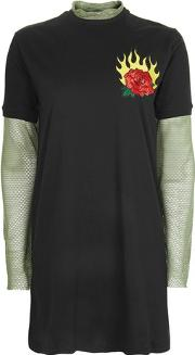 The Ragged Priest , Womens Patch T Shirt Dress By