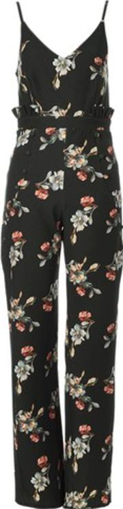 Hope And Ivy , Womens Floral Jumpsuit By Hope & Ivy