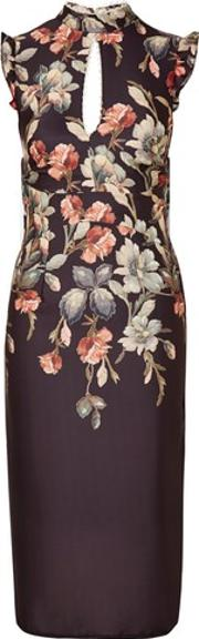 Hope And Ivy , Womens Keyhole Floral Print Pencil Dress By Hope & Ivy