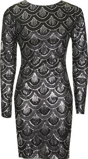 Oh My Love , Womens Long Sleeved Sequin Dress By