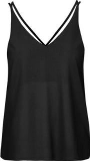 Topshop , Womens Double Strap V Front Cami