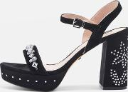 Topshop , Womens Lovely Jewel Front Platform Shoes